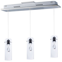 ET2 E21113-18PC Solitaire LED 4 inch Polished Chrome Pendant Ceiling Light