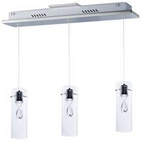 ET2 E21113-18PC Solitaire LED 4 inch Polished Chrome Pendant Ceiling Light
