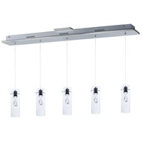 ET2 Solitaire 5 Light Pendant in Polished Chrome E21115-18PC
