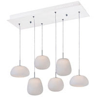 ET2 E21124-11WT Puffs 1 Light 12 inch White Multi-Light Pendant Ceiling Light