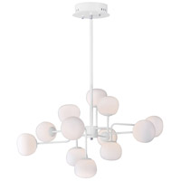 Puffs LED 33 inch White Single Pendant Ceiling Light