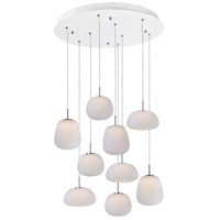 Puffs 9 Light 25 inch White Multi-Light Pendant Ceiling Light