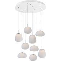 ET2 E21127-11WT Puffs LED 25 inch White Multi-Light Pendant Ceiling Light