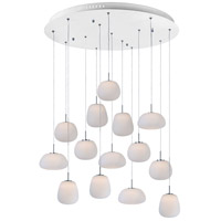 Puffs LED 32 inch White Multi-Light Pendant Ceiling Light