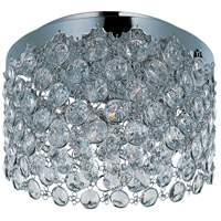 Dazzle 3 Light 15 inch Polished Chrome Flush Mount Ceiling Light