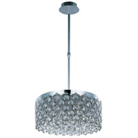 ET2 E21155-20PC Dazzle 5 Light 20 inch Polished Chrome Single Pendant Ceiling Light