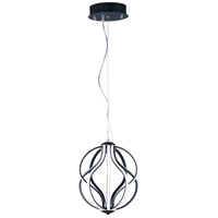 ET2 E21172-BK Aura LED 12 inch Black Single Pendant Ceiling Light