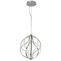 Aura LED 12 inch Polished Chrome Pendant Ceiling Light
