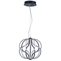 ET2 E21174-BK Aura LED 17 inch Black Single Pendant Ceiling Light