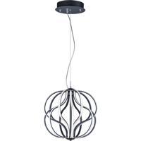 ET2 E21174-BK Aura LED 17 inch Black Single Pendant Ceiling Light