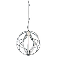 Aura LED 17 inch Polished Chrome Pendant Ceiling Light