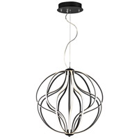 ET2 E21176-BK Aura LED 24 inch Black Single Pendant Ceiling Light