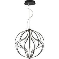 ET2 E21176-BK Aura LED 24 inch Black Single Pendant Ceiling Light