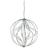 Aura LED 32 inch Polished Chrome Pendant Ceiling Light
