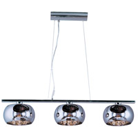 Sense 3 Light 9 inch Polished Chrome Pendant Ceiling Light
