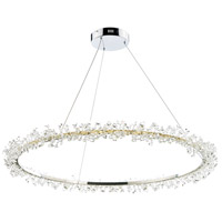 Bracelet LED 34 inch Polished Chrome Single Pendant Ceiling Light