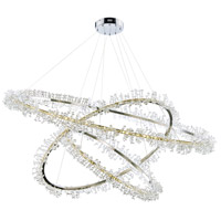 ET2 E21216-20PC Bracelet LED 43 inch Polished Chrome Entry Foyer Pendant Ceiling Light