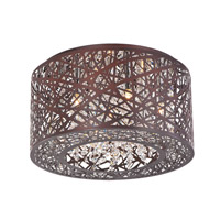 ET2 E21300-10BZ Inca 7 Light 16 inch Bronze Flush Mount Ceiling Light in Cognac, Without Bulb alternative photo thumbnail