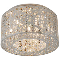 ET2 E21300-10PC Inca 7 Light 16 inch Polished Chrome Flush Mount Ceiling Light in Clear/White Without Bulb