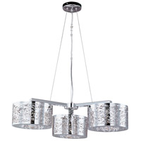 Inca 3 Light 28 inch Polished Chrome Pendant Ceiling Light in Without Bulb