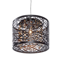 ET2 E21306-10BZ Inca 1 Light 8 inch Bronze Mini Pendant Ceiling Light in Cognac, Without Bulb alternative photo thumbnail
