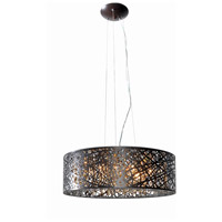 ET2 E21308-10BZ Inca 9 Light 24 inch Bronze Single Pendant Ceiling Light in Cognac, Without Bulb
