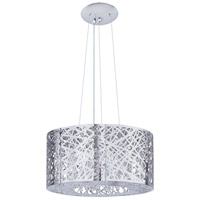 ET2 E21309-10PC Inca 7 Light 16 inch Polished Chrome Pendant Ceiling Light in Without Bulb, Clear/White