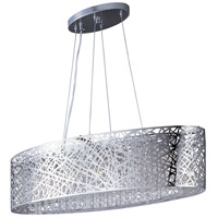 ET2 E21310-10PC/BUL Inca LED 32 inch Polished Chrome Island Pendant Ceiling Light in Clear/White, With Bulb