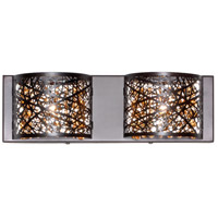 ET2 E21315-10BZ Inca 2 Light 16 inch Bronze Bath Light Wall Light in Clear/White Without Bulb 4.25 in.