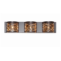 Inca 3 Light 24 inch Bronze Bath Light Wall Light in Clear/White, 4.25 in., Without Bulb