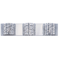 ET2 E21316-10PC/BUL Inca LED 4 inch Polished Chrome Flush Mount Ceiling Light in Clear/White