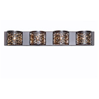 ET2 E21317-10BZ Inca 4 Light 33 inch Bronze Bath Light Wall Light in Cognac, Without Bulb, 4.25 in.