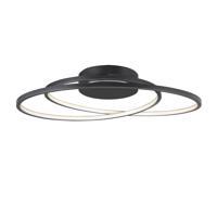 ET2 E21322-BK Cycle 1 Light 25 inch Black Flush Mount Ceiling Light