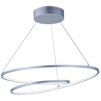 ET2 E21325-MS Cycle LED 25 inch Matte Silver Entry Foyer Pendant Ceiling Light