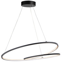 ET2 E21327-BK Cycle 1 Light 32 inch Black Single Pendant Ceiling Light