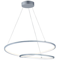ET2 E21327-MS Cycle 1 Light 32 inch Matte Silver Single Pendant Ceiling Light