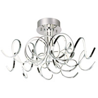 Chaos 9 Light 31 inch Polished Chrome Flush Mount Ceiling Light