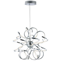 Chaos LED 24 inch Polished Chrome Single Pendant Ceiling Light