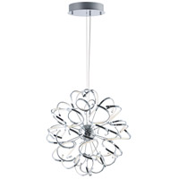 Chaos LED 32 inch Polished Chrome Single Pendant Ceiling Light