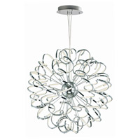 ET2 E21413-PC Chaos LED 40 inch Polished Chrome Entry Foyer Pendant Ceiling Light