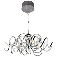 Chaos LED 34 inch Polished Chrome Pendant Ceiling Light