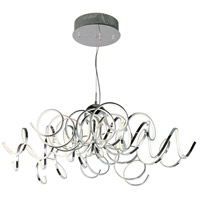 ET2 E21417-PC Chaos LED 42 inch Polished Chrome Pendant Ceiling Light