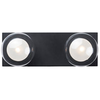 ET2 E21452-93BK Pod LED 14 inch Black Bath Vanity Wall Light