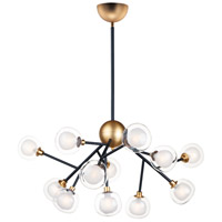 ET2 E21455-93BKGLD Pod LED 40 inch Black and Gold Multi-Light Pendant Ceiling Light