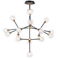Pod LED 48 inch Black and Gold Multi-Light Pendant Ceiling Light