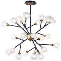 Pod LED 40 inch Black and Gold Multi-Light Pendant Ceiling Light