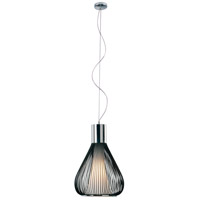 Hydrox 1 Light 13 inch Polished Chrome and Black Pendant Ceiling Light