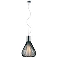 Hydrox 1 Light 18 inch Polished Chrome and Black Pendant Ceiling Light