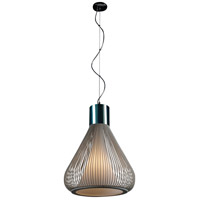 Hydrox 1 Light 18 inch Polished Chrome and White Pendant Ceiling Light