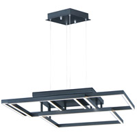 ET2 E21516-BK Traverse LED 31 inch Black Multi-Light Pendant Ceiling Light